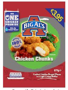 Undeclared Mustard in Big Als Chicken Chunks and Chicken Dippers