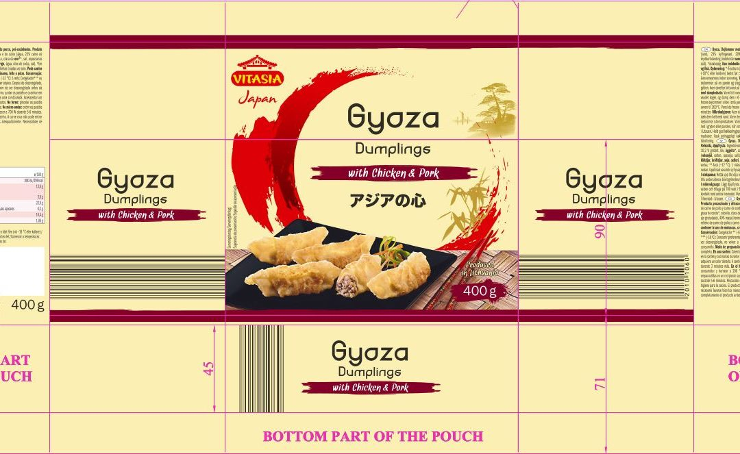 Lidl Recalls Vitasia Gyoza Dumplings with Chicken and Pork as Allergens are not Labelled in English