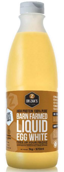 Recall of Dr Zaks Barn Farmed Liquid Egg White Due to Detection of Salmonella