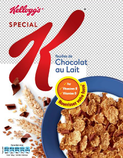 Important safety warning Special K Milk Chocolate 300 grams of allergens
