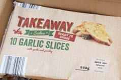 Speedibake is Recalling a Batch of Takeaway 10 Garlic Slices as They May Contain Undeclared Milk