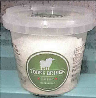 Recall of Toons Bridge Dairy Soft Cheeses Due to Detection of Listeria monocytogenes