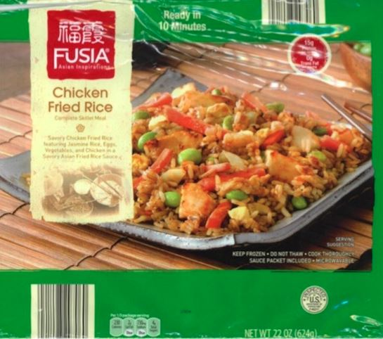 Fusia Asian Inspirations Recalls Chicken Fried Rice for Milk