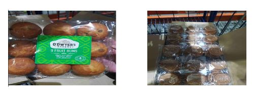 Undeclared Allergens in O Dwyers Bakery Fruit Buns Due to Labeling Error
