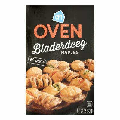 Important safety warning AH Oven puff pastry snacks box 16 pieces