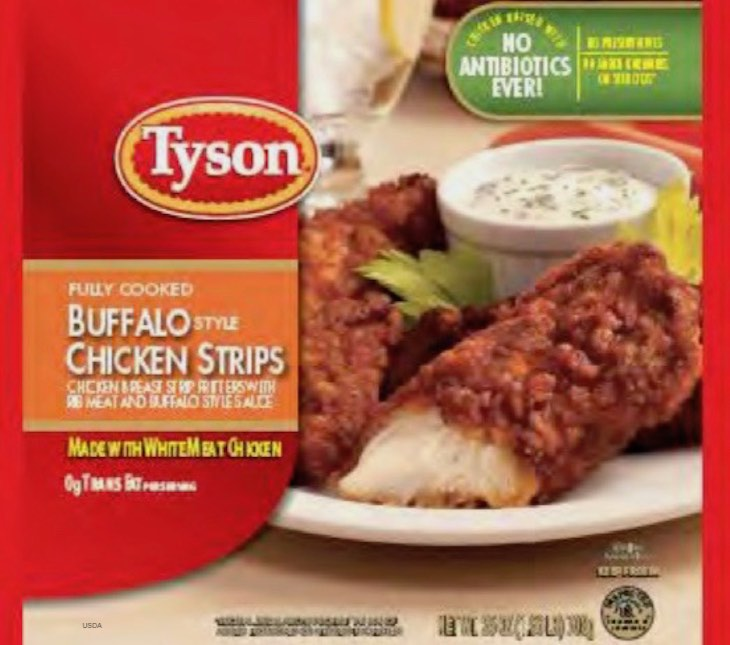 Tyson Chicken Strips Recalled For Foreign Material Sold at Kroger, Walmart, Target