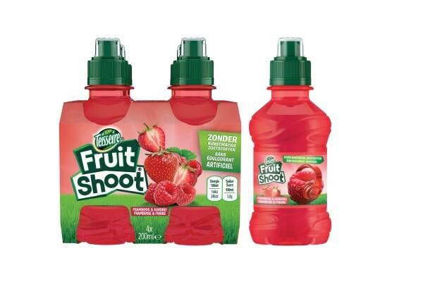 Important safety warning Teisseire Fruit Shoot Raspberry Strawberry