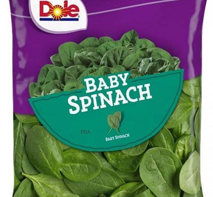 Dole Baby Spinach Recalled For Possible Salmonella Contamination