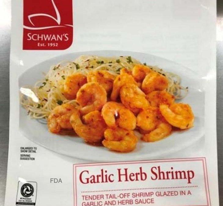 Schwan's Garlic Herb Shrimp Recalled For Allergens