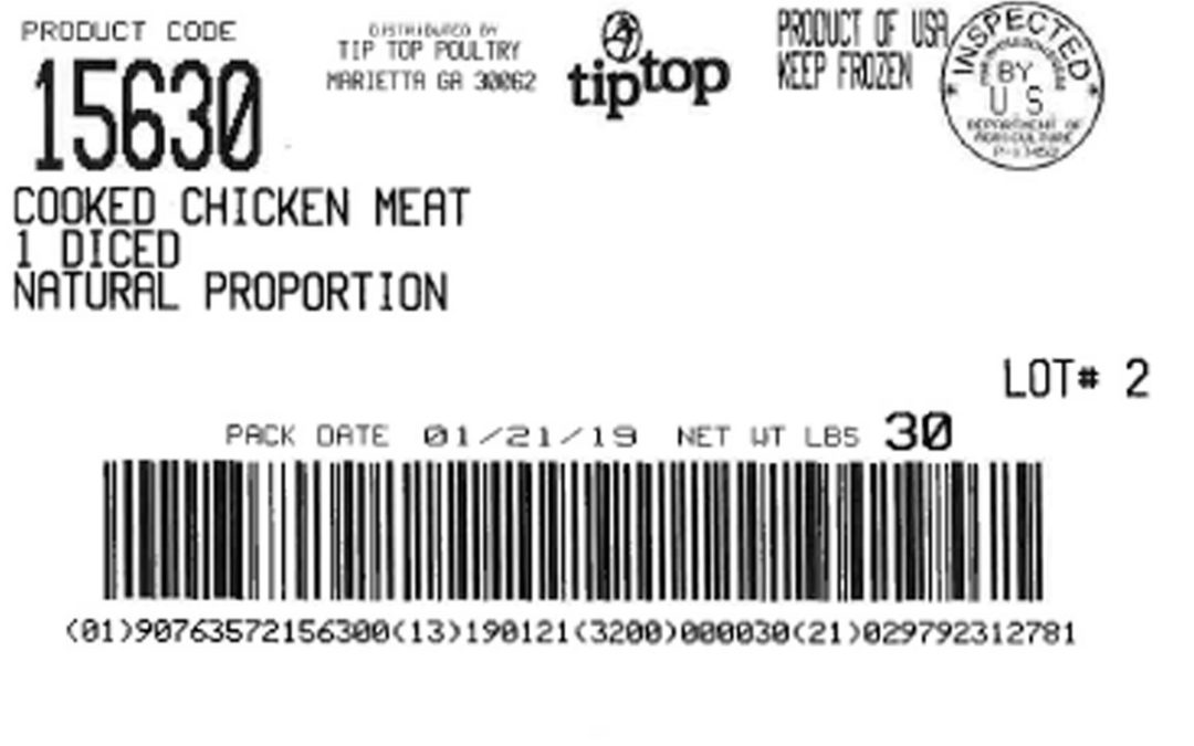Secondary Listeria Recalls Issued For Tip Top Chicken Products
