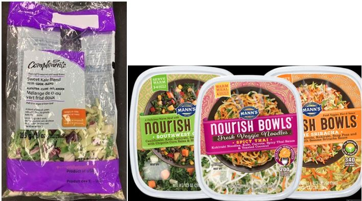 Compliments Kale and Vegetables and Manns Veggies Recalled For Possible Listeria